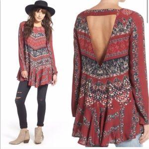 Free People burgundy Smooth Talker tunic dress